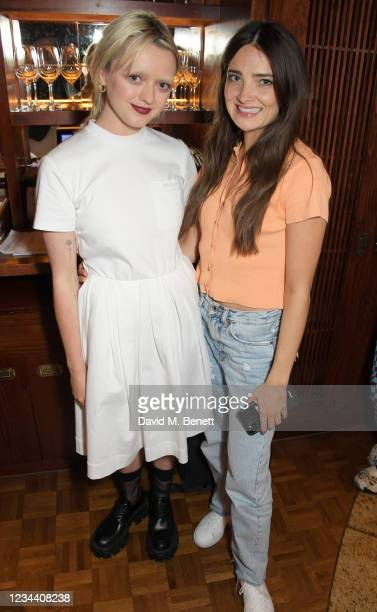 Maisie Williams and Beth Dillon attend a private dinner hosted by Maisie Williams at Gymkhana London to celebrate the launch of new company film...