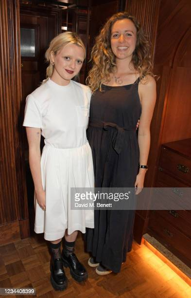 Maisie Williams and Lowri Roberts attend a private dinner hosted by Maisie Williams at Gymkhana London to celebrate the launch of new company film...