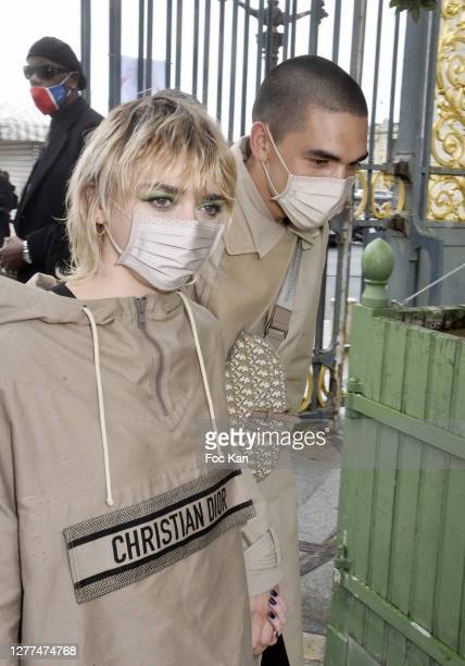 Maisie Williams and Reuben Selby attend the Dior Womenswear Spring/Summer 2021show as part of Paris Fashion Week on September 29, 2020 in Paris,...
