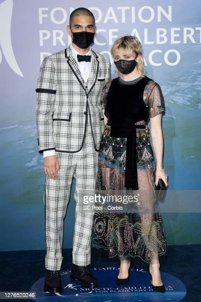 Maisie Williams and Reuben Selby attend the Monte-Carlo Gala For Planetary Health on September 24, 2020 in Monte-Carlo, Monaco.