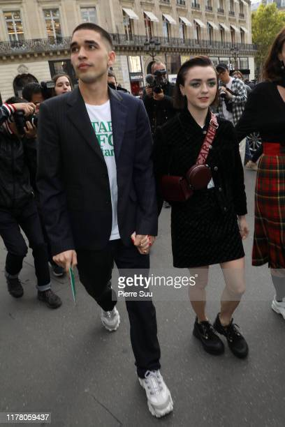 Maisie Williams and Reuben Selby attend the Stella McCartney Womenswear Spring/Summer 2020 show as part of Paris Fashion Week on September 30 2019 in...
