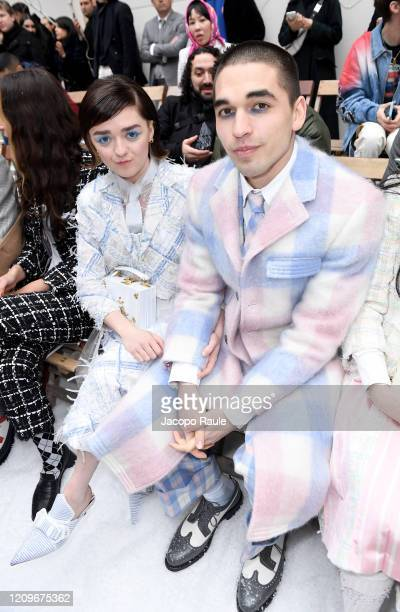 Maisie Williams and Reuben Selby attend the Thom Browne show as part of the Paris Fashion Week Womenswear Fall/Winter 2020/2021 on March 01, 2020 in...