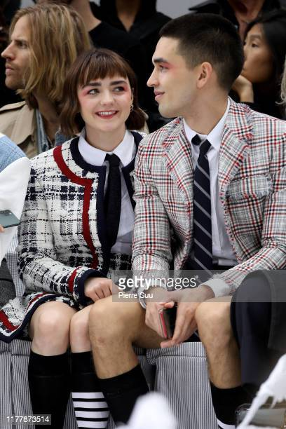 Maisie Williams and Reuben Selby attend the Thom Browne Womenswear Spring/Summer 2020 show as part of Paris Fashion Week on September 29 2019 in...