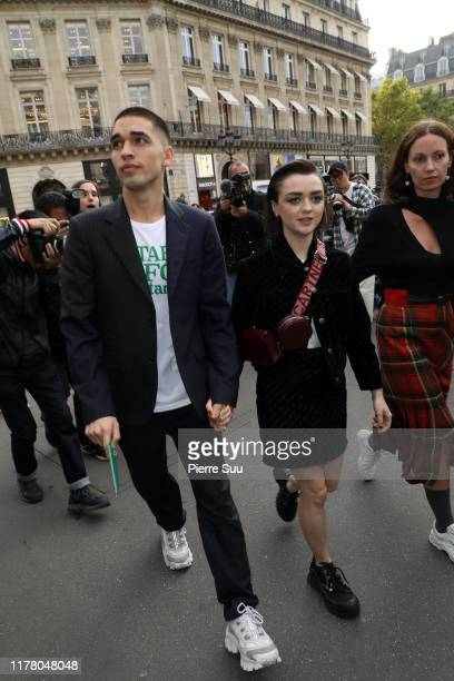 Maisie Williams and Reuben Selby attends the Stella McCartney Womenswear Spring/Summer 2020 show as part of Paris Fashion Week on September 30 2019...