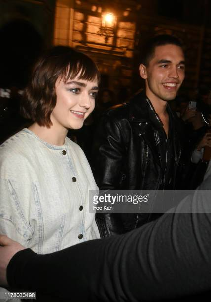 Maisie Williams and Reuben Selby attends the Givenchy Womenswear Spring/Summer 2020 show as part of Paris Fashion Week on September 29 2019 in Paris...