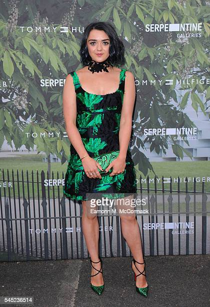 Maisie Williams arrives for the Serpentine Summer Party at The Serpentine Gallery on July 6 2016 in London England