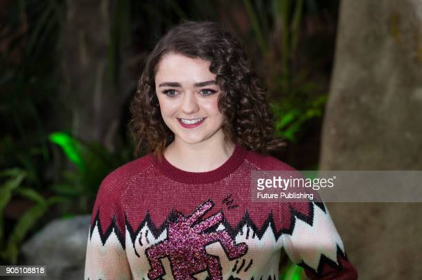 Maisie Williams arrives for the world film premiere of 'Early Man' at the BFI Imax cinema in the South Bank district of London January 14 2018 in...