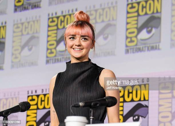 """Maisie Williams at """"Game Of Thrones"""" Comic Con Autograph Signing 2019 on July 19, 2019 in San Diego, California."""