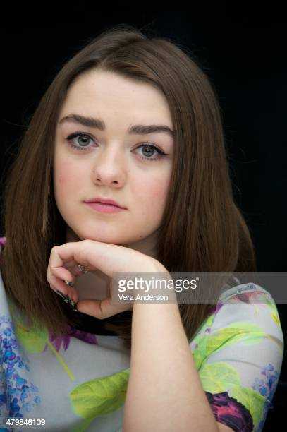 """Maisie Williams at the """"Game Of Thrones"""" Press Conference at The London Hotel on March 19, 2014 in New York City."""