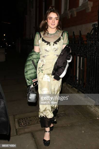 Maisie Williams attending The British Fashion Awards on December 3 2017 in London England