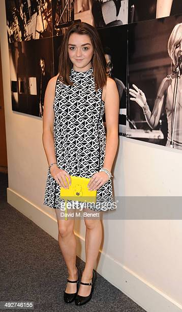 Maisie Williams attends a showing of the Ralph Lauren Collection Spring 2014 Runway Collection at Abbey Road Studios on May 21 2014 in London England