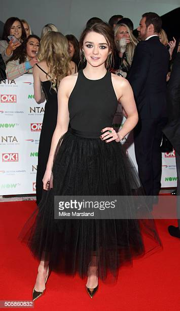 Maisie Williams attends the 21st National Television Awards at The O2 Arena on January 20 2016 in London England
