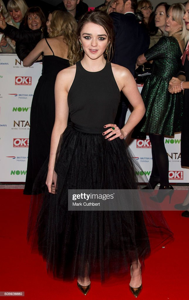 Maisie Williams attends the 21st National Television Awards at The O2 Arena on January 20, 2016 in London, England.