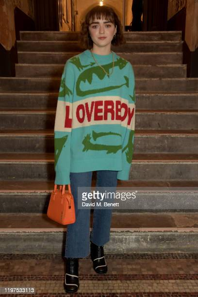 Maisie Williams attends the Charles Jeffrey Loverboy show during London Fashion Week Men's January 2020 on January 04, 2020 in London, England.