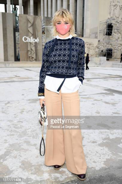 Maisie Williams attends the Chloe Womenswear Spring/Summer 2021 show as part of Paris Fashion Week on October 01, 2020 in Paris, France.