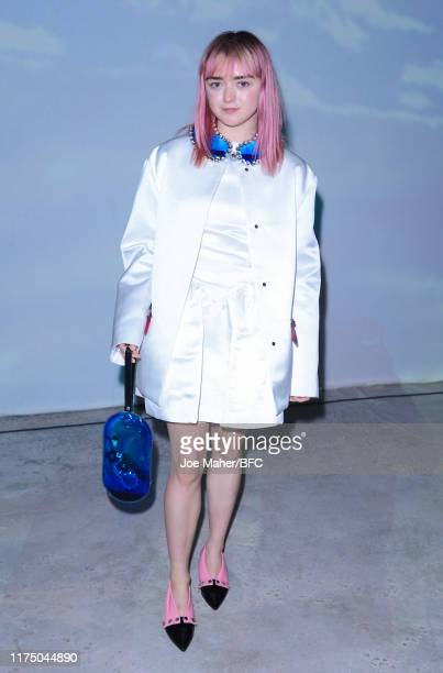 Maisie Williams attends the Christopher Kane show during London Fashion Week September 2019 at Hawley Wharf on September 16 2019 in London England