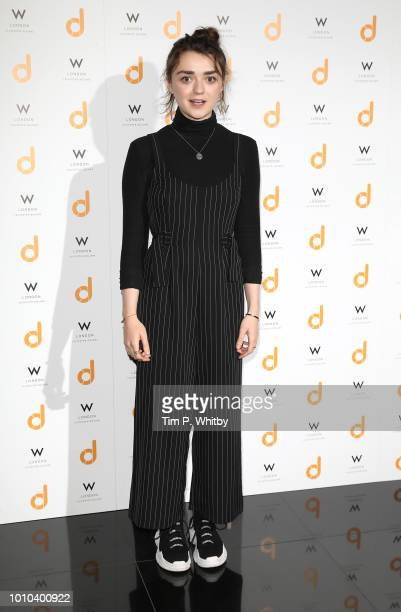 Maisie Williams attends the 'daisie' launch party held at W London Leicester Square on August 3 2018 in London England