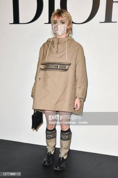 Maisie Williams attends the Dior Womenswear Spring/Summer 2021 show as part of Paris Fashion Week on September 29, 2020 in Paris, France.