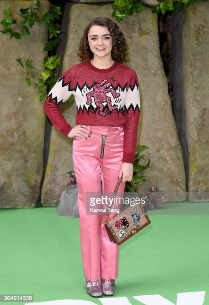 Maisie Williams attends the 'Early Man' World Premiere at the BFI IMAX on January 14 2018 in London England