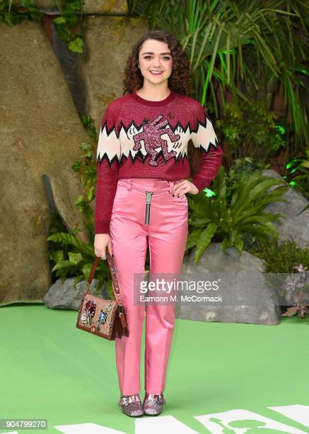 Maisie Williams attends the 'Early Man' World Premiere held at BFI IMAX on January 14 2018 in London England