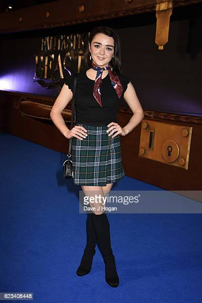 Maisie Williams attends the European premiere of Fantastic Beasts And Where To Find Them at Odeon Leicester Square on November 15 2016 in London...