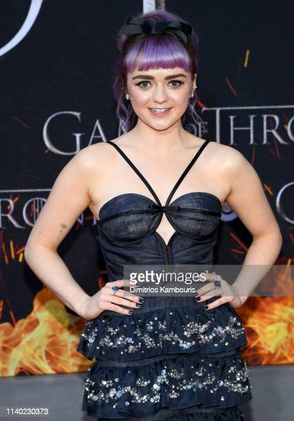 Maisie Williams attends the Game Of Thrones Season 8 Premiere on April 03 2019 in New York City
