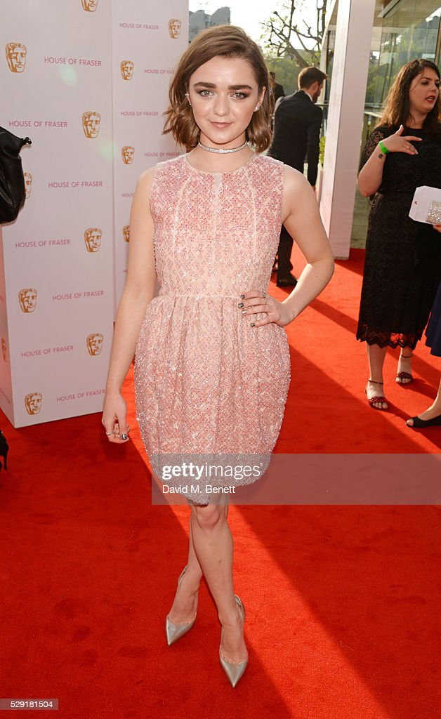 Maisie Williams attends the House Of Fraser British Academy Television Awards 2016 at the Royal Festival Hall on May 8, 2016 in London, England.