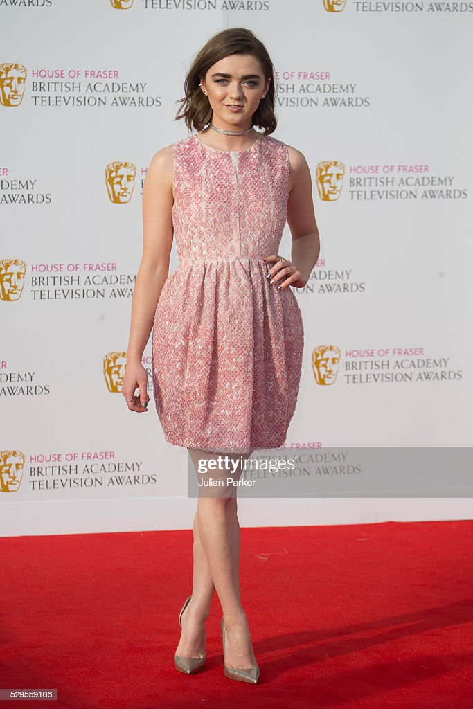 Maisie Williams attends the House Of Fraser British Academy Television Awards 2016 at the Royal Festival Hall on May 8, 2016 in London, England..