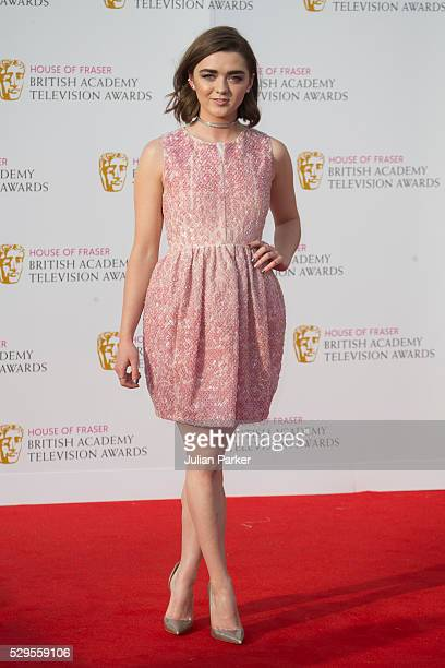 Maisie Williams attends the House Of Fraser British Academy Television Awards 2016 at the Royal Festival Hall on May 8 2016 in London England