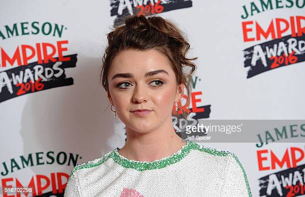 Maisie Williams attends the Jameson Empire Awards 2016 at The Grosvenor House Hotel on March 20 2016 in London England