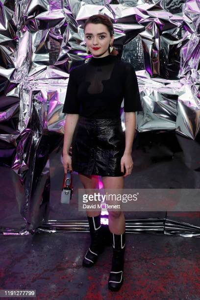 Maisie Williams attends the LOVE Christmas Drinks at Bistrotheque on December 01, 2019 in London, England.
