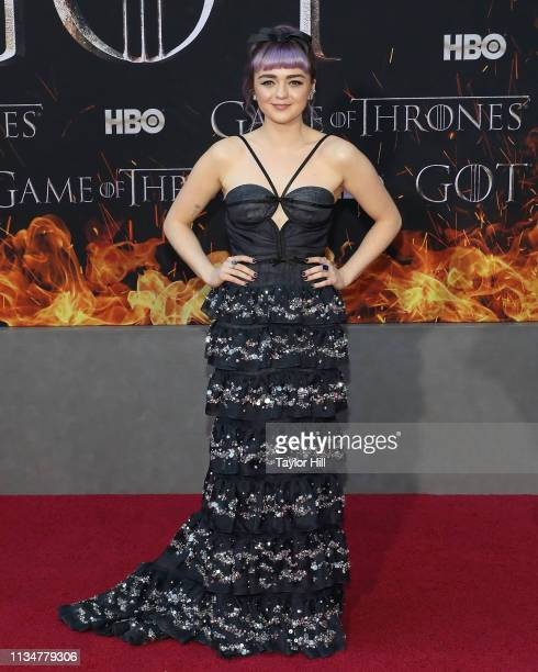 Maisie Williams attends the premiere of Game of Thrones at Radio City Music Hall on April 3 2019 in New York City