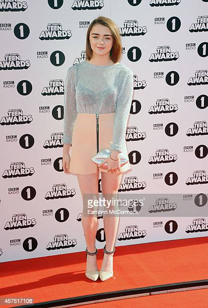 Maisie Williams attends the Radio One Teen Awards at Wembley Arena on October 19 2014 in London England