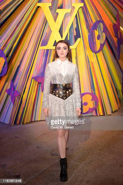 Maisie Williams attends the re-opening of the Louis Vuitton New Bond Street Maison Reopening on October 23, 2019 in London, United Kingdom.