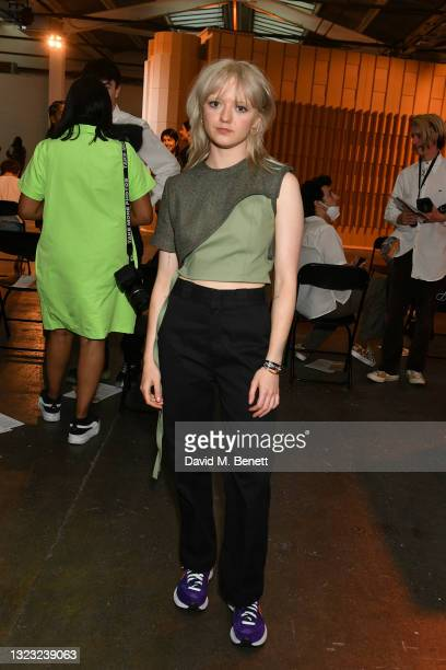 Maisie Williams attends the Reuben Selby show during London Fashion Week June 2021 on June 12, 2021 in London, England.