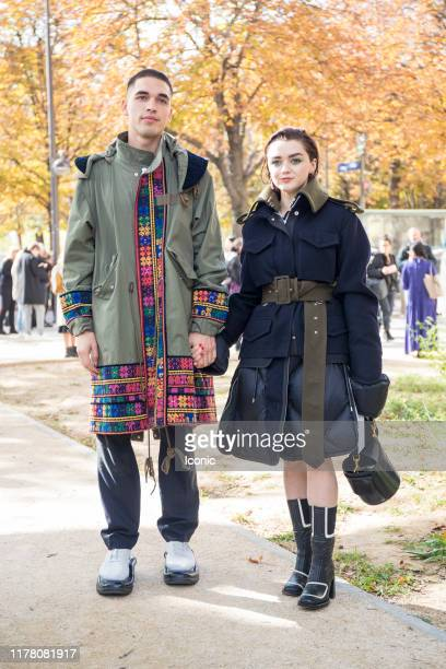 Maisie Williams attends the Sacai Womenswear Spring/Summer 2020 show as part of Paris Fashion Week on September 30 2019 in Paris France
