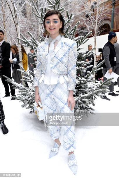 Maisie Williams attends the Thom Browne show as part of the Paris Fashion Week Womenswear Fall/Winter 2020/2021 on March 01, 2020 in Paris, France.