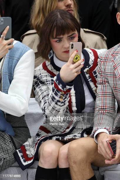 Maisie Williams attends the Thom Browne Womenswear Spring/Summer 2020 show as part of Paris Fashion Week on September 29 2019 in Paris France