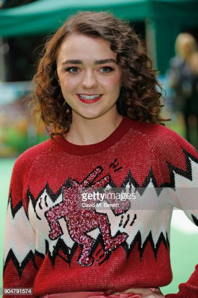 Maisie Williams attends the World Premiere of 'Early Man' at BFI IMAX on January 14 2018 in London England