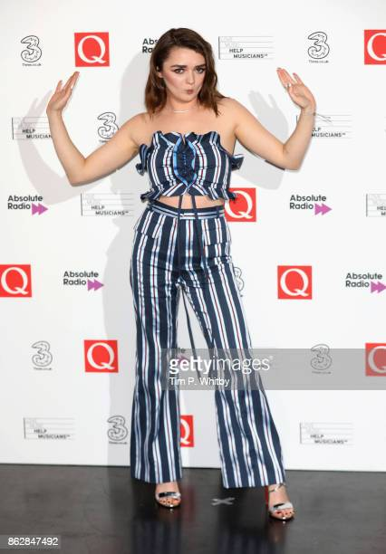 Maisie Williams during the Q Awards 2017 in association with Absolute Radio held at the Roundhouse on October 18 2017 in London England