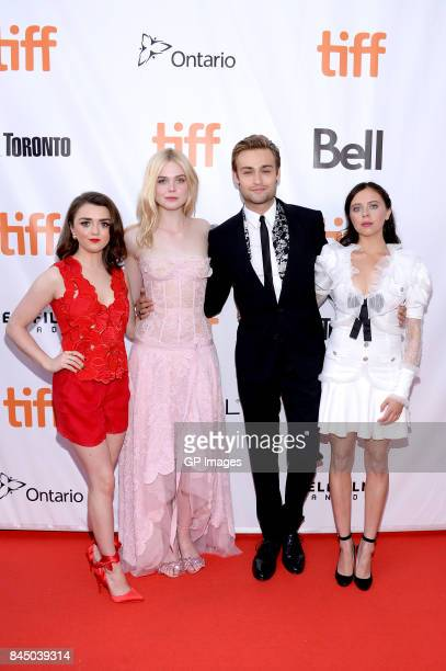 "Maisie Williams, Elle Fanning, Douglas Booth, and Bel Powley attend the ""Mary Shelley"" premiere during the 2017 Toronto International Film Festival..."