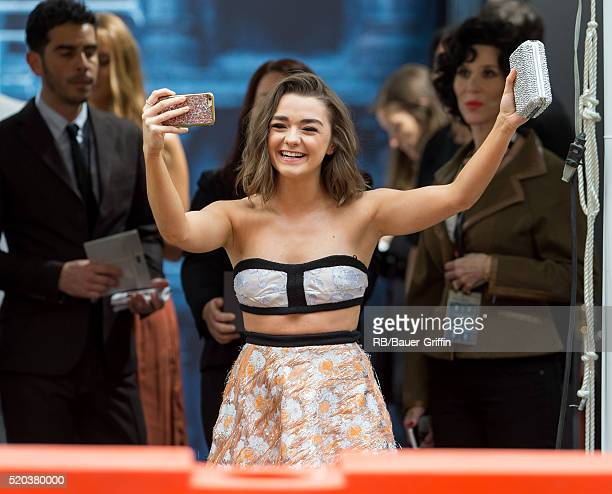 Maisie Williams is seen greeting fans on April 10 2016 in Los Angeles California