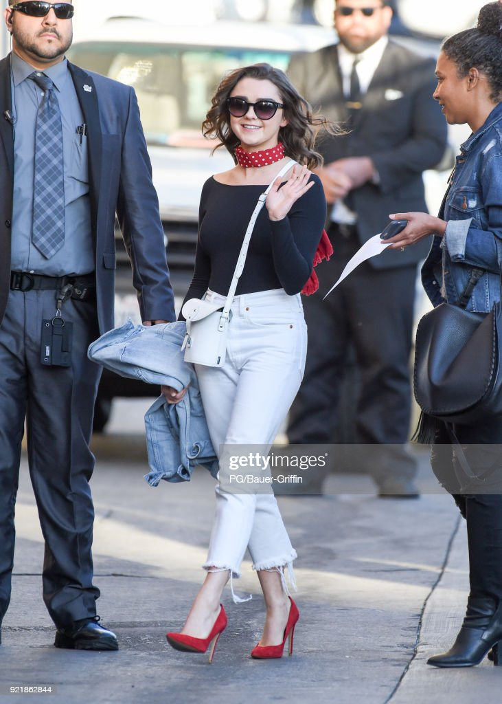 Maisie Williams is seen on February 20, 2018 in Los Angeles, California.