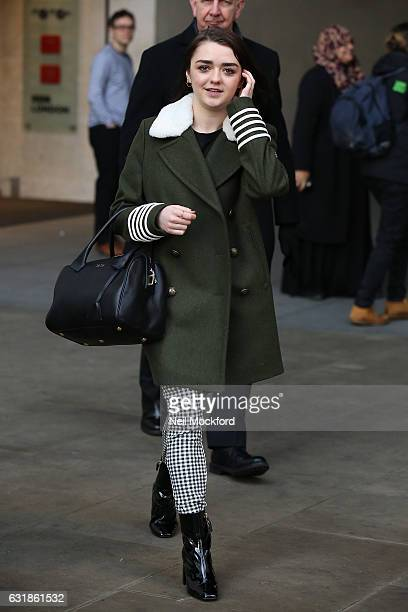 Maisie Williams seen at BBC Radio One promoting new movie 'iBoy' on January 17 2017 in London England