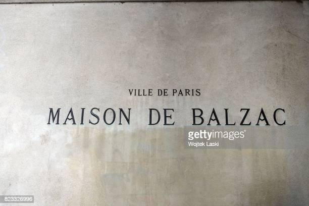 Maison de Balzac a house museum in the former residence of French novelist Honore de Balzac Paris France on 11th February 2016
