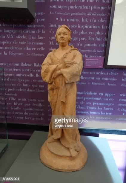 Maison de Balzac a house museum in the former residence of French novelist Honore de Balzac Pictured a statue to Honore de Balzac by Anatole Marquet...