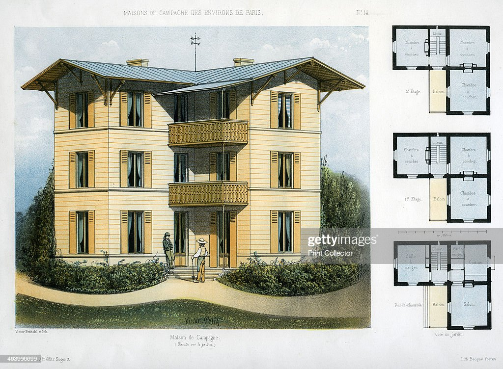 maison de campagne c1860 design and floor plans for a three storey country
