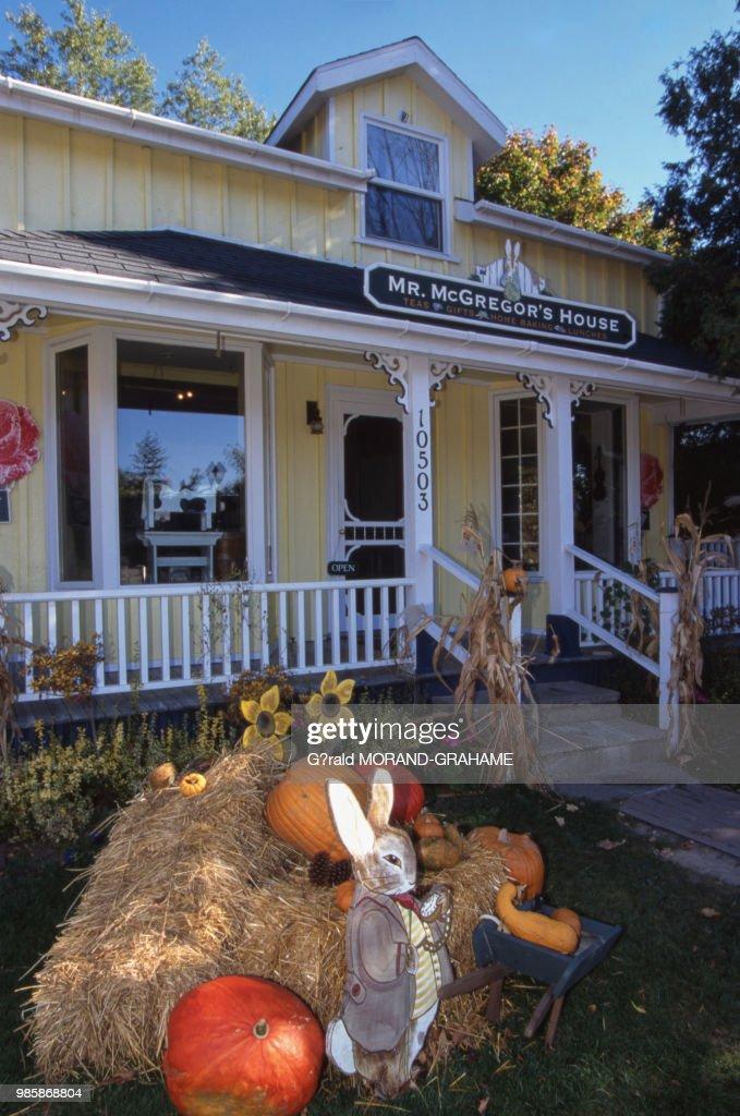 Maison de Kleinburg décorée pour Halloween au Canada. News Photo ...