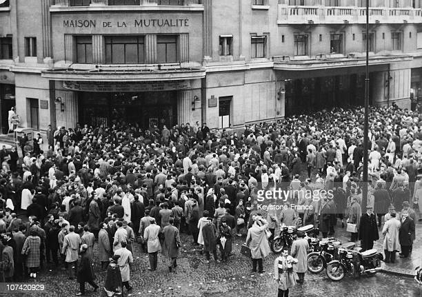 Maison De La Mutualite Students Demonstration For Liberties Protection In Paris On February 6Th 1962