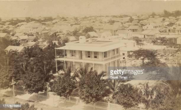 Maison de l'Agent de la Mr. Morgan W. Giff à Key West, Floride; Key West, Florida, United States; 1860s - 1880s; Albumen silver print.